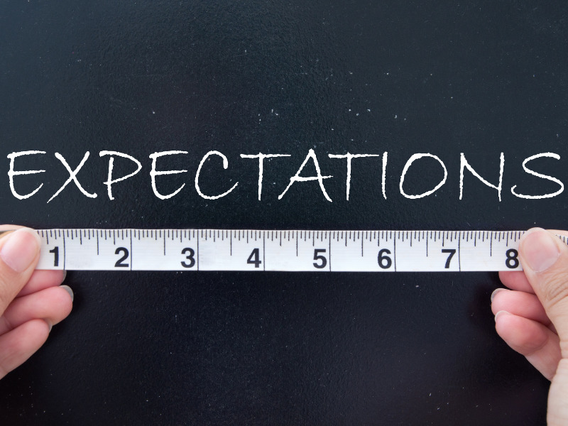 Erwartungen mit Maßband