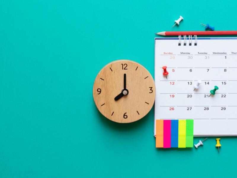 Kalender zur Trainingsplanung