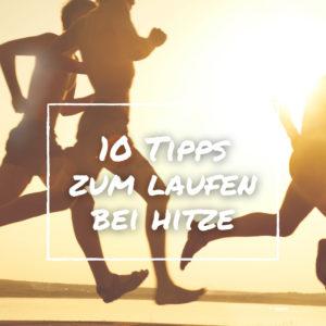 Sport bei Hitze mehrere Läufer